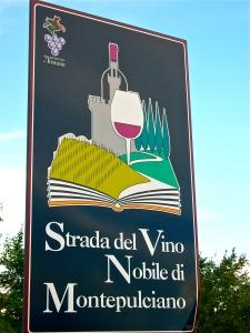 Montepulciano wine route