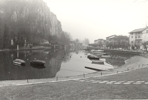 1980, probably Ponte Vecchio waterway, Italy