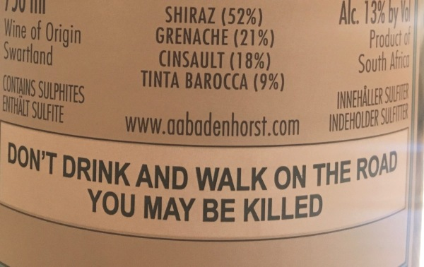 A sage and serious warning for the many rural walkers in South Africa